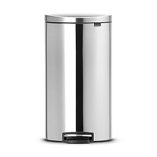 Brabantia® Flatback Kitchen Waste Pedal Bin - Silver