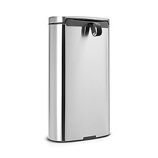 Brabantia® Flatback Kitchen Waste Pedal Bin - Silver 30L alt image 3