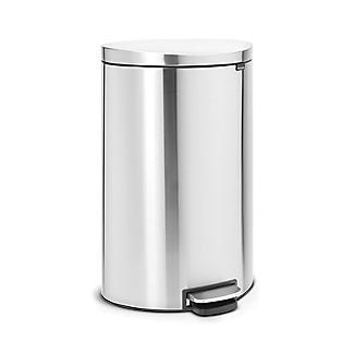 Brabantia® Flatback Kitchen Waste Pedal Bin - Silver 40L alt image 2