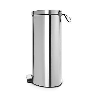 Brabantia® Flatback Kitchen Waste Pedal Bin - Silver 40L alt image 3