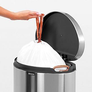 Brabantia® Flatback Kitchen Waste Pedal Bin - Silver 40L alt image 6