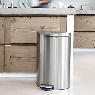 Brabantia® Flatback Kitchen Waste Pedal Bin - Silver 40L alt image 7