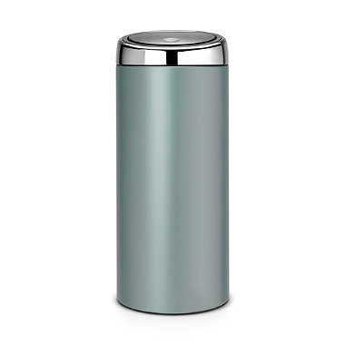 Brabantia® Touch Pedal Bin Metallic Mint Brilliant Steel Lid 30 Litre
