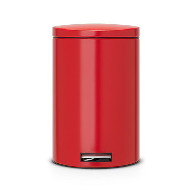 Brabantia® Motion Control Lid Kitchen Waste Pedal Bin - Red 20L