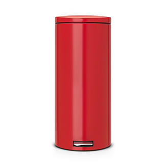 Brabantia® Motion Control Lid Kitchen Waste Pedal Bin - Red 30L