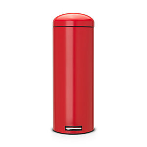 Brabantia® Retro Bin Motion Control Whisper Lid Stainless Steel and Deep Red 20 Litre
