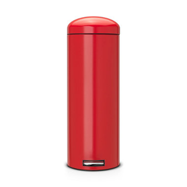 Brabantia® Soft Touch Lid Retro Kitchen Waste Pedal Bin - Red 20L