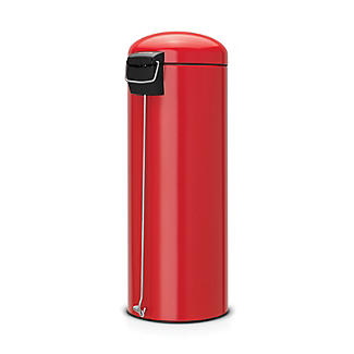 Brabantia® Soft Touch Lid Retro Kitchen Waste Pedal Bin - Red 20L alt image 2