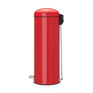 Brabantia® Soft Touch Lid Retro Kitchen Waste Pedal Bin - Red 20L alt image 3