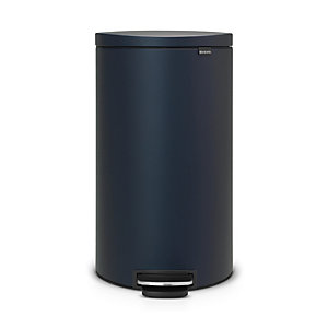 Brabantia® Flatback Kitchen Waste Pedal Bin - Dark Blue 30L