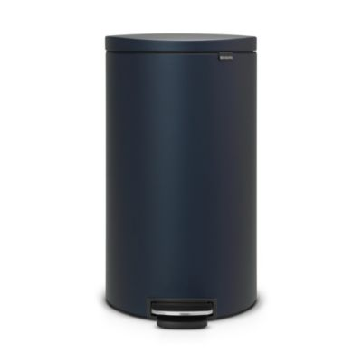 Brabantia&174 Flatback Kitchen Waste Pedal Bin  Dark Blue 30L