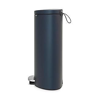 Brabantia® Flatback Kitchen Waste Pedal Bin - Dark Blue 30L alt image 2