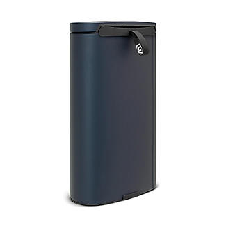 Brabantia® Flatback Kitchen Waste Pedal Bin - Dark Blue 30L alt image 3