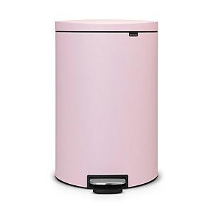 Brabantia® Flatback Kitchen Waste Pedal Bin - Pink 40L