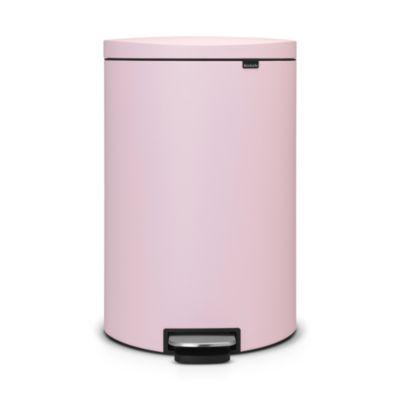 Brabantia&174 Flatback Kitchen Waste Pedal Bin  Pink 40L