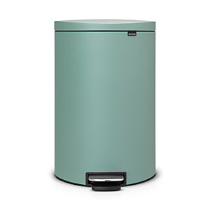 Brabantia® Flatback Kitchen Waste Pedal Bin - Mint 40L