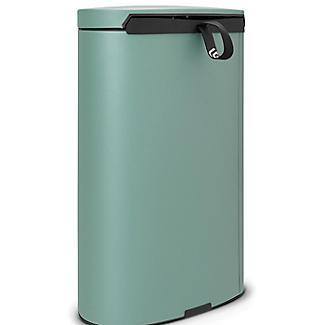 Brabantia® Flatback Kitchen Waste Pedal Bin - Mint 40L alt image 2