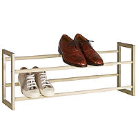 Extending Champagne Shoe Rack
