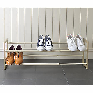 Extending and Stackable Steel Shoe Rack Champagne Cream alt image 6
