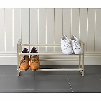 Extending and Stackable Steel Shoe Rack Champagne Cream alt image 7