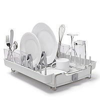 OXO Good Grips Foldaway Dish Drainer Rack - Light Grey