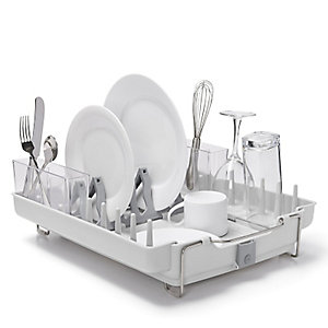 OXO Good Grips® Foldaway Dish Drainer Rack - Light Grey