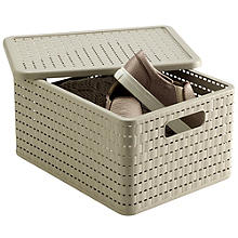 Lidded Lattice Effect Basket Large