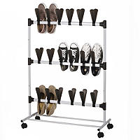 Lakeland Pop-On Vertical Space Saving Shoe Rack - Holds 18 Pairs