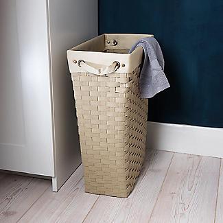 Extraschmaler Gewebter Wäschekorb 30 L alt image 3