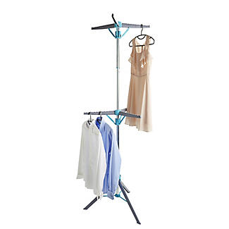 Faltbarer Kleiderständer mit 2 Ebenen