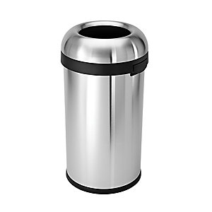 Simplehuman 60L Bullet Open Can Brushed Steel