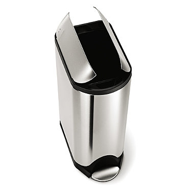 simplehuman Butterfly Lid Kitchen Waste Pedal Bin - Silver 45L