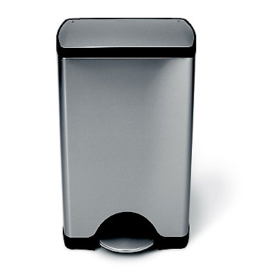 simplehuman Classic Kitchen Waste Pedal Bin - Silver 38L