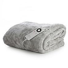 Faux Fur Electric Heated Throw Pearl Grey - 120 x 160cm
