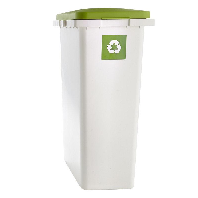Lakeland tall slim white green recycling indoor interlocking waste bin 25l ebay - Slimline waste bin ...