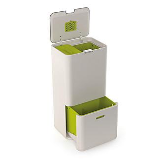 Joseph Joseph® Totem Intelligent Waste Recycle System - Stone 60L alt image 2