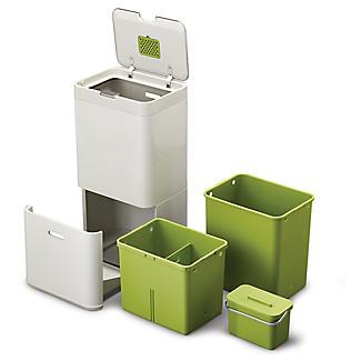 Joseph Joseph® Totem Intelligent Waste Recycle System - Stone 60L alt image 4