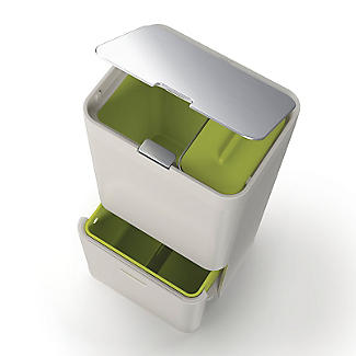 Joseph Joseph® Totem Intelligent Waste Recycle System - Stone 60L alt image 5