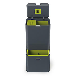 Joseph Joseph® Totem Intelligent Kitchen Recycle System - Graphite 60L