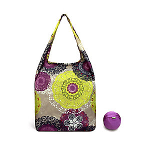Re-Uz Foldable Shopper Pink Doily