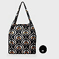 Re-Uz Foldable Shopper Deco Black