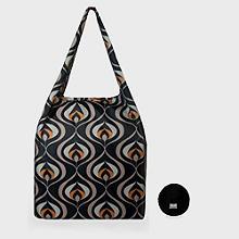 Re-Uz Foldable Shopper Deco Black