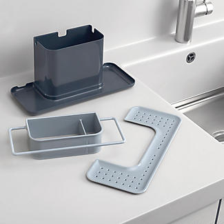 joseph joseph caddy large sink tidy grey lakeland. Black Bedroom Furniture Sets. Home Design Ideas