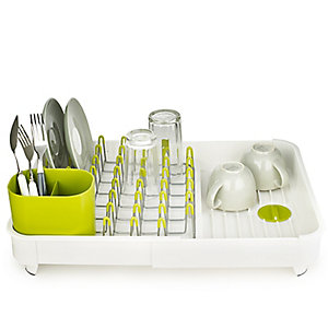 Joseph Joseph® Extend Expandable Dish Drainer Rack - White & Green