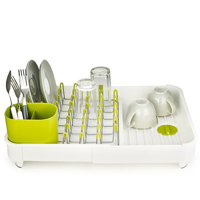 Joseph Joseph&174 Extend Expandable Dish Drainer Rack  White & Green