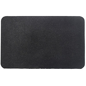 Faux Coir Outdoor Mat Black