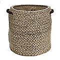 Oatmeal Basket Weave Knitted Tote