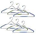 Soft Grip Non Slip Clothes Hangers Aqua 6 Pack