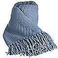 Soft Touch Throw Vintage Blue