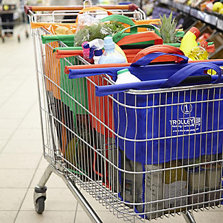 4 Reusable Supermarket Shopping Trolley Bags - Deep alt image 3